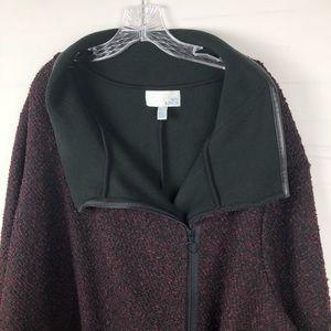 e1a62574f90 14th   Union Women s tweed Jacket coat 3X Burgundy